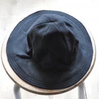 Chapeau bord court, drap laine/cachemire noir