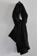 scarf, black linen