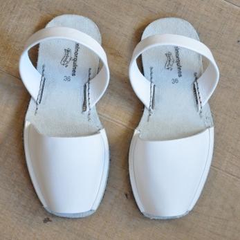 Sandales blanches AVARCA, MINORQUINES