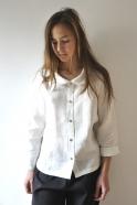 Chemise Uniforme, lin blanc