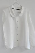Uniform shirt, white linen