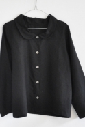 Uniform shirt, black linen