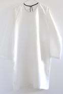 Robe évasée Uniforme, lin blanc