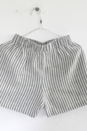 Uniform short, light stripes linen