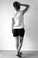 Uniform short, black linen