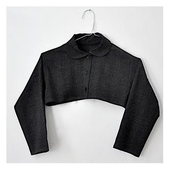 chemise col claudine destructurée, tissu écossais