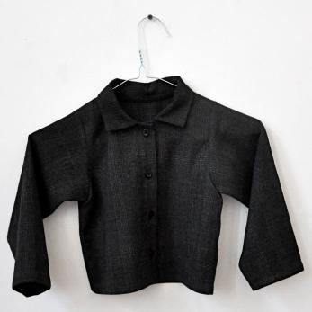 chemise col mixte classique, tissu écossais
