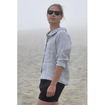 Uniform shirt, light stripes linen