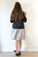 Jupe Uniforme, lin rayures claires