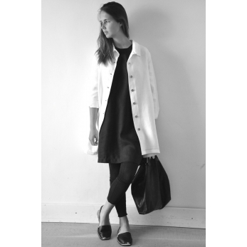 Uniform coat, thick white linen