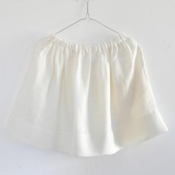 Jupe Uniforme, lin épais blanc