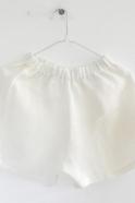 Short Uniforme, lin épais blanc