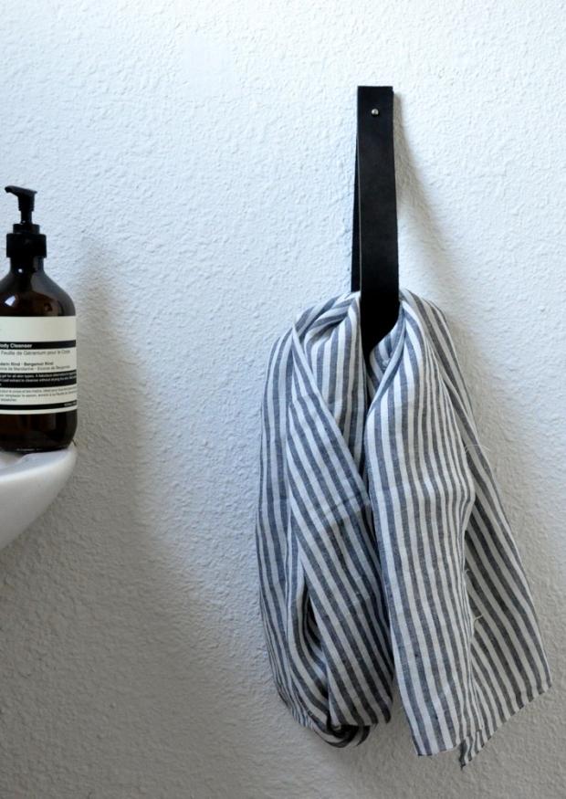 dish towel, light stripes linen