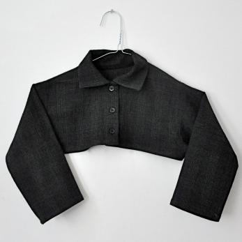 chemise col mixte «trop courte», tissu écossais