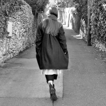 Manteau Uniforme, drap gris