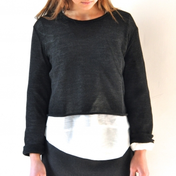 Pull Uniforme, maille grise