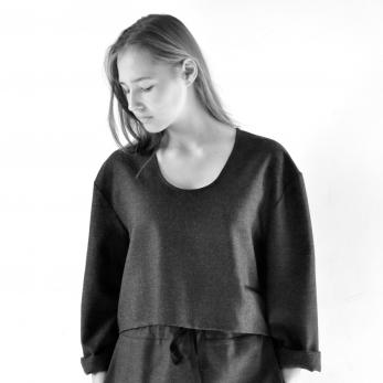 Sweater, grey woolblend