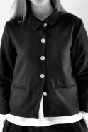 Veste Uniforme, lainage noir