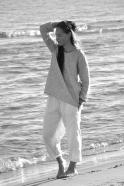 Uniform trousers, white linen