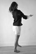 Chemise manches longues Uniforme, lin noir