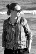 Uniform shirt long sleeves, dark stripes linen