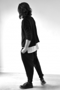 Unisex pullover, black thick knit