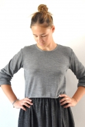 Pull Uniforme, maille gris clair