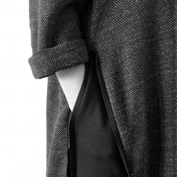 Dress open, heather woolblend