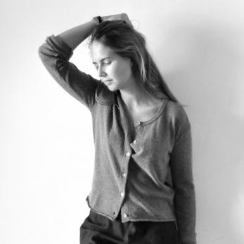 Uniform cardigan, grey thick knit