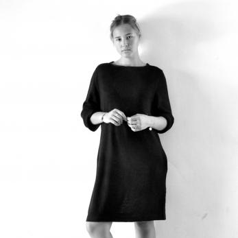 Tunic bicolor, black knit
