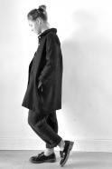 Uniform coat, black thick woolblend