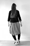 Uniform cardigan, black knit