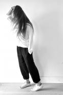 Uniform trousers, thick black linen