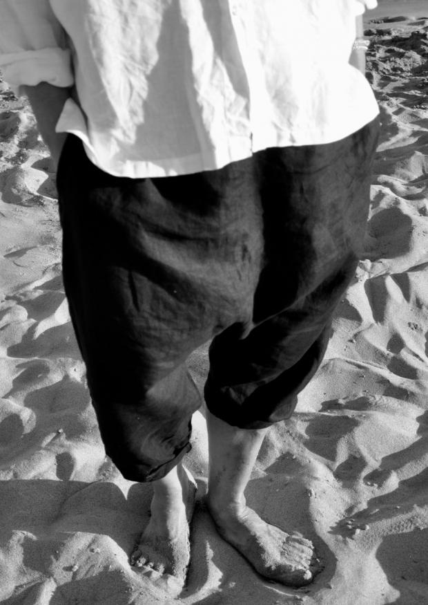 Saroual Uniform, black linen