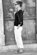 Gilet Uniforme, maille coton noir