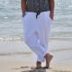 Pantalon à poches, coton blanc