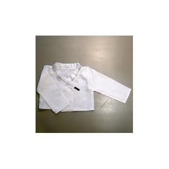 veste fille, lin blanc
