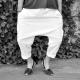 Pantalon sarouel, coton blanc