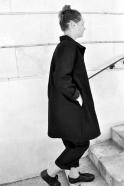 Manteau Uniforme, drap noir
