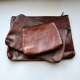 POCKET WITH BOTTOM, brown leather