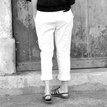 Pantalon mixte, coton blanc