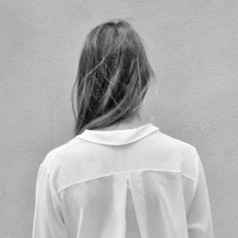 "Shirt ""woman"", white silk"
