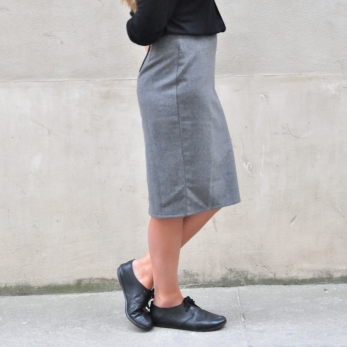 """Skirt """"woman"""", grey wool blend"""