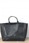 Tote bag, black leather