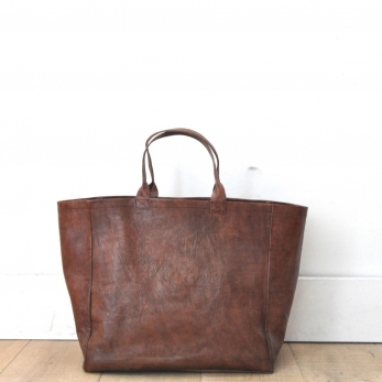 Tote bag, brown leather