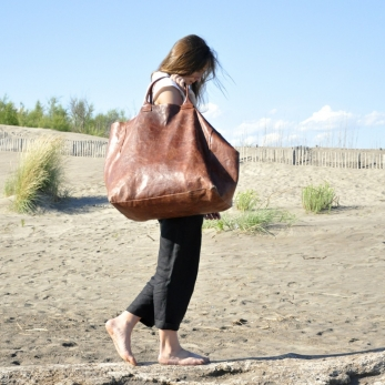 BIG BAG, brown leather