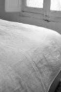 Duvet cover , white linen