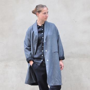 """Manteau """"femme"""", lainage gris"""