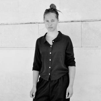 Long sleeves shirt, black silk