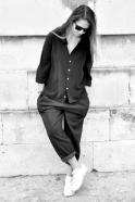 Unisex shirt, black silk